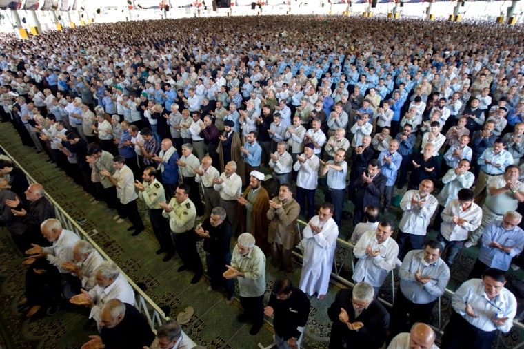 Image: Iranian cleric Ahmad Khatami delivers a sermon during Friday prayers in Tehran