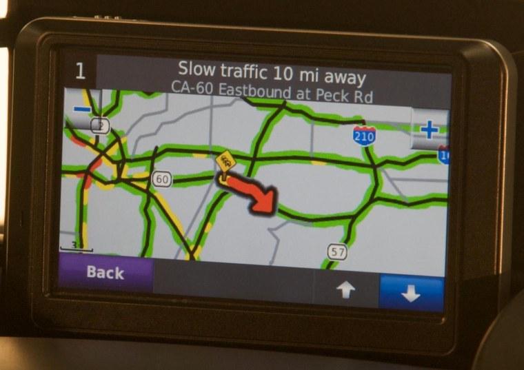 Image: Garmin GPS in a Suzuki SX4