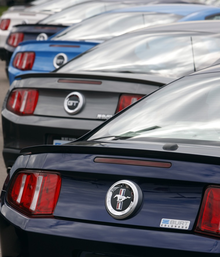 Image: 2010 Ford Mustangs