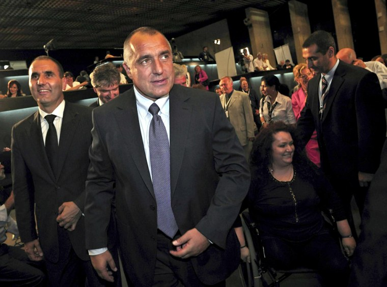 Image: Bulgarian right-wing opposition GERB party leader Boiko Borisov