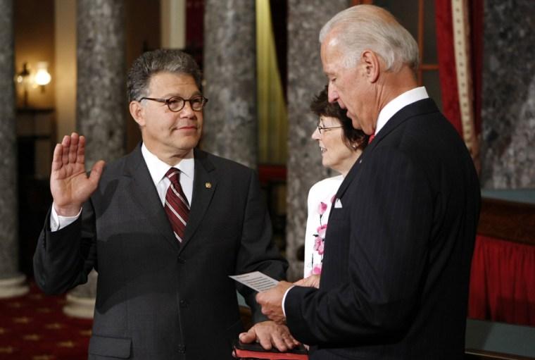 Image: Franken is sworn-in at the Capitol in Washington