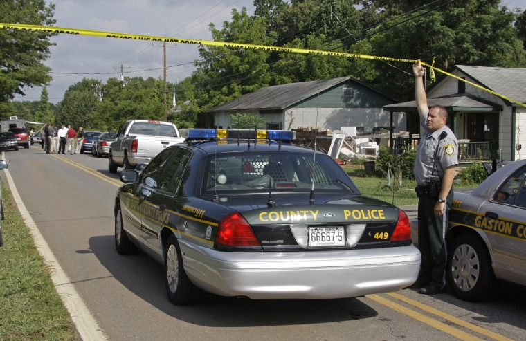 Image: House where suspect was killed