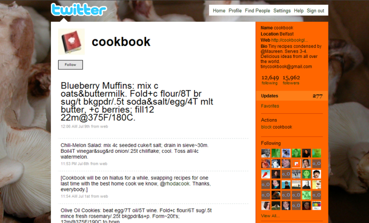 Tweets from @cookbook.