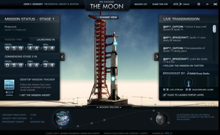 "Image: ""We Choose the Moon"" Web site"