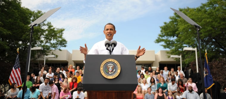 Image: President Obama speaks in Michigan on Tuesday