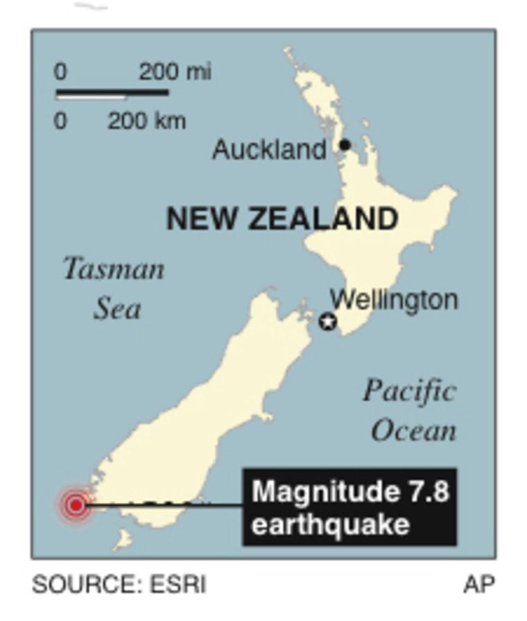 Image: NEW ZEALAND QUAKE MAP