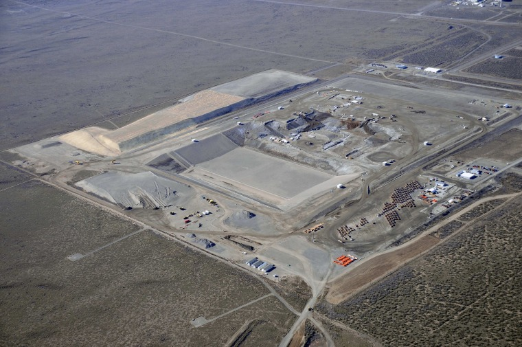 One of the sites explored for storing mercury is the vast Hanford complex in Washington state. This view shows a Hanford disposal facility that is being expanded.