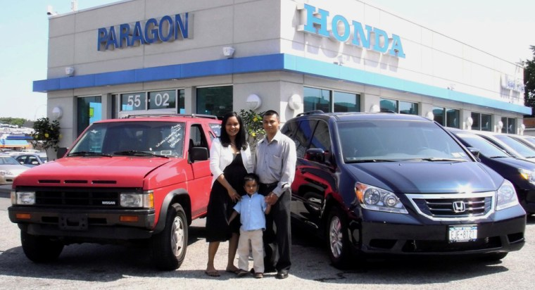 Image: first family to purchase a new car with Cash For Clunkers