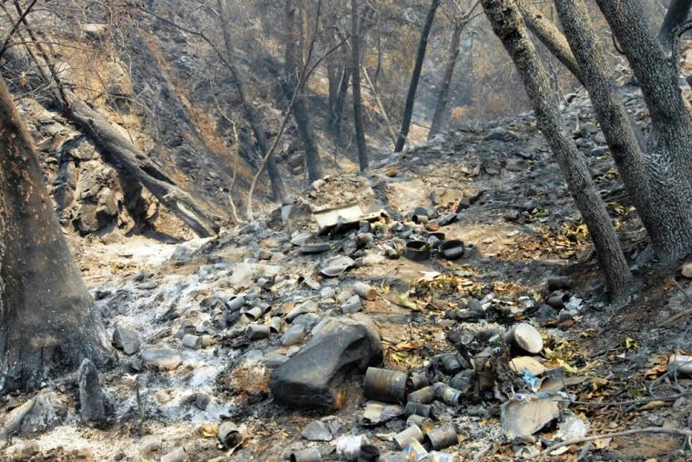 Image: Encampment believed to be the origin of the La Brea Fire in Santa Barbara County
