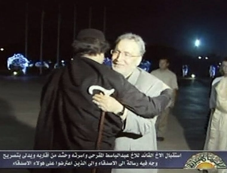 Image: Abdel Baset al-Megrahi, Moammar Gadhafi