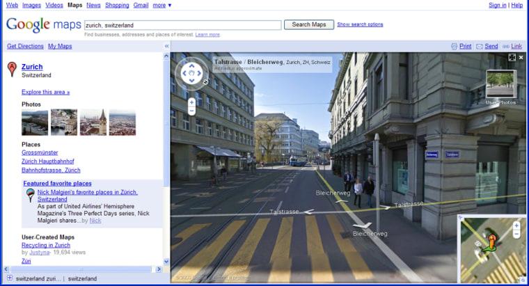 Image: Google streetview page
