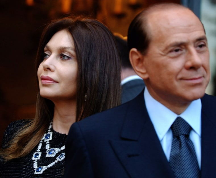 Image: Silvio Berlusconi, Veronica Lario