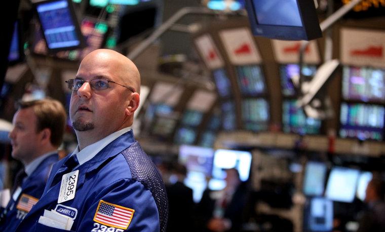 Image: Postive Economic Reports Boost Dow Jones Industrial Average