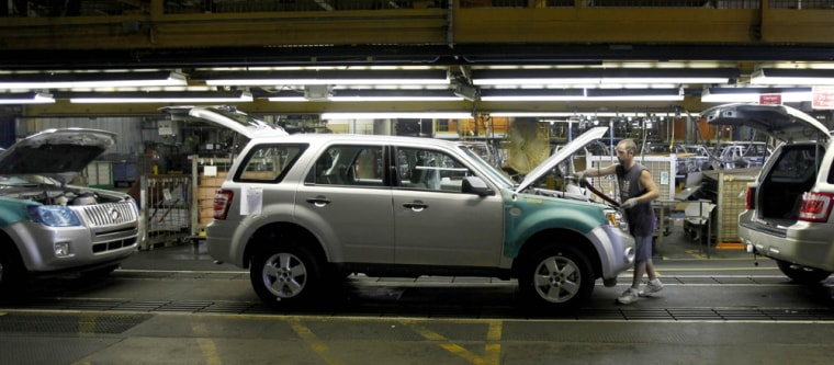 Image: Ford Escape assembly line