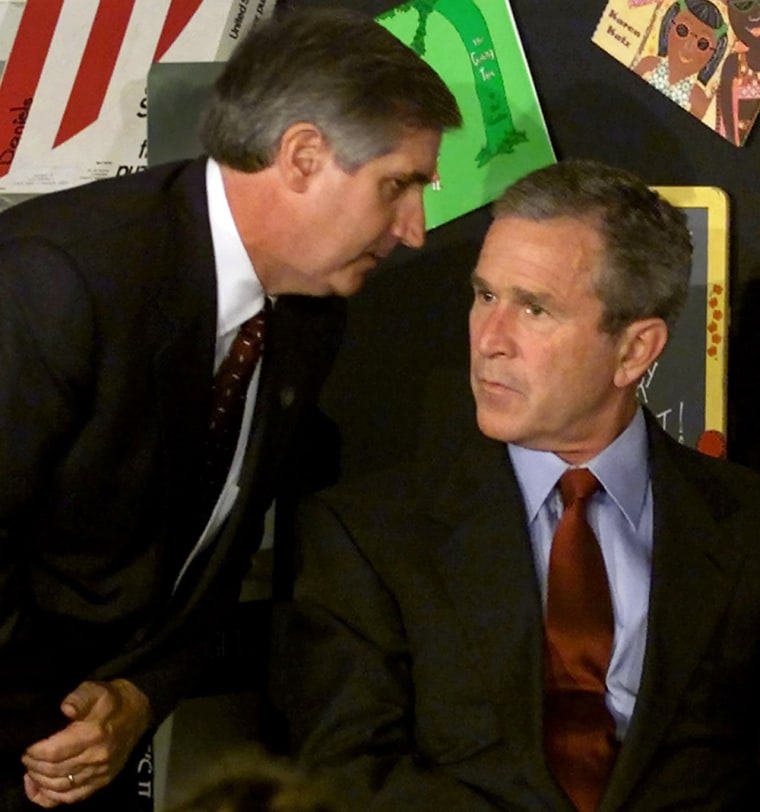 Image: File photo of US President Bush and chief of staff Andrew Card in Florida