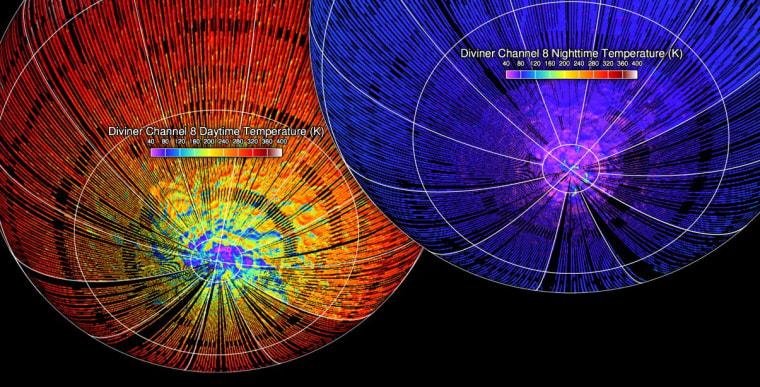 Image: Lunar temperatures