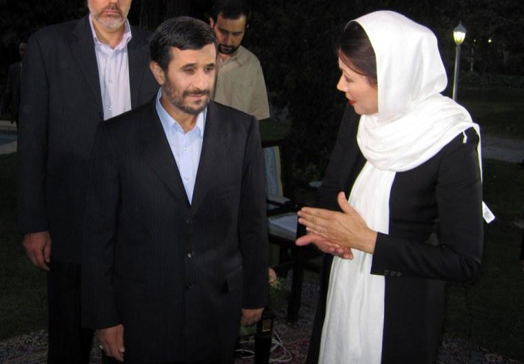 Image: Ann Curry, Mahmoud Ahmadinejad