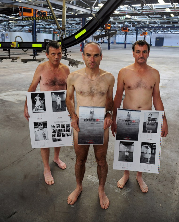 Image: French laborers pose naked to promote their calendar