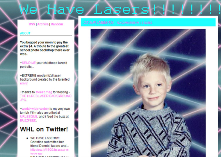 LaserPortraits.net celebrates the awkward school portrait — specifically, the ones from the 1980s and the '90s with the fluorescent lasers in the background.