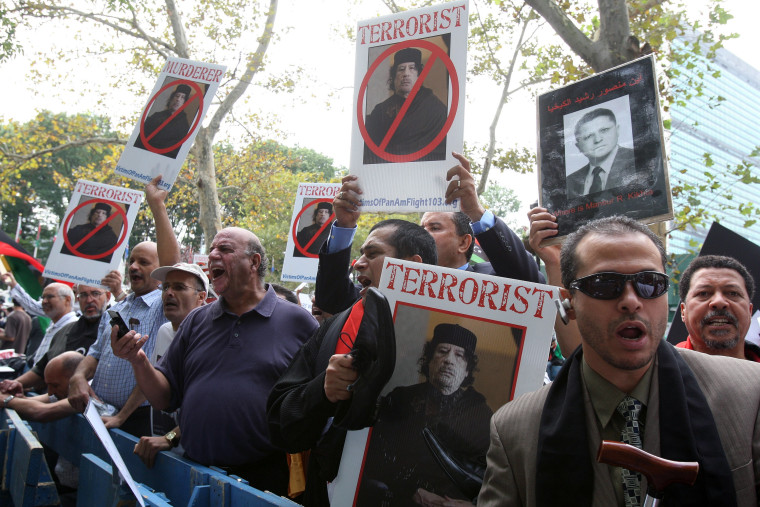 Image: Protests outside of the UN building