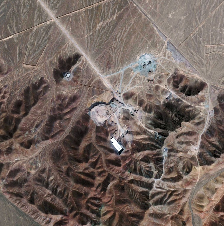 Image: Satellite photo of newly disclosed nuclear fuel facility near Qom