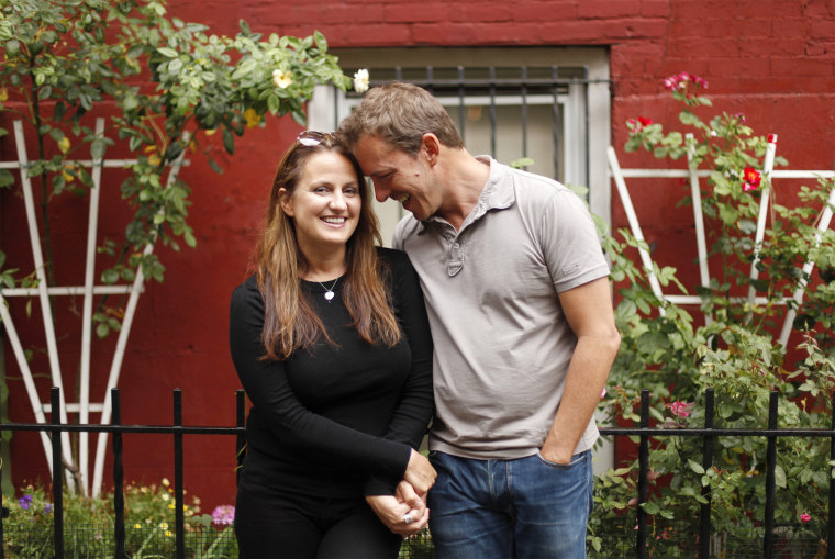 Image: Beavan and his wife Michelle pose for a portrait in New York