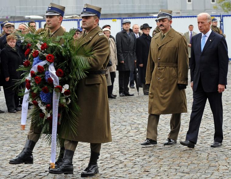 Image: Joe Biden in Warsaw