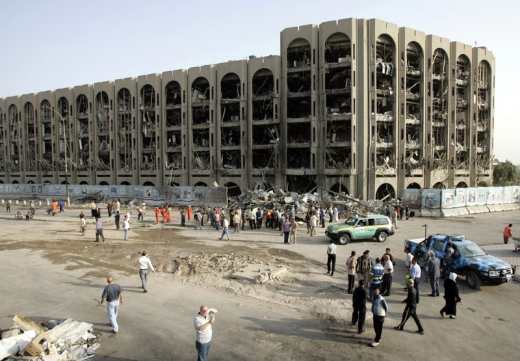 Image: Ministry of Justice the day after a suicide bomb in Baghdad