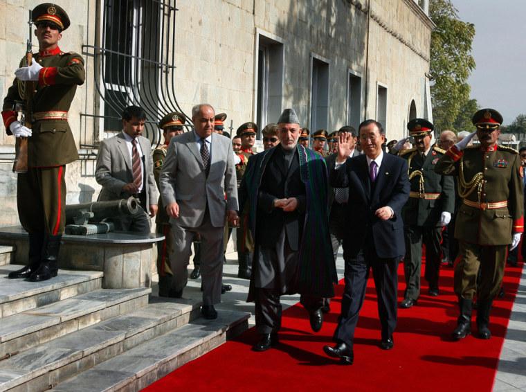Image: Hamid Karzai and Ban Ki-moon