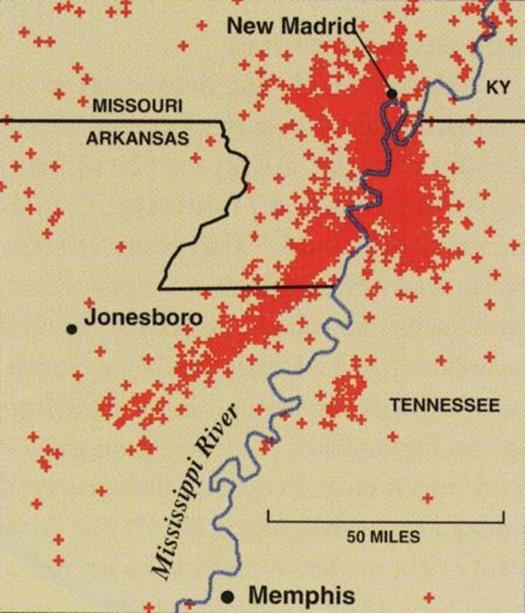Image: New Madrid seismic zone