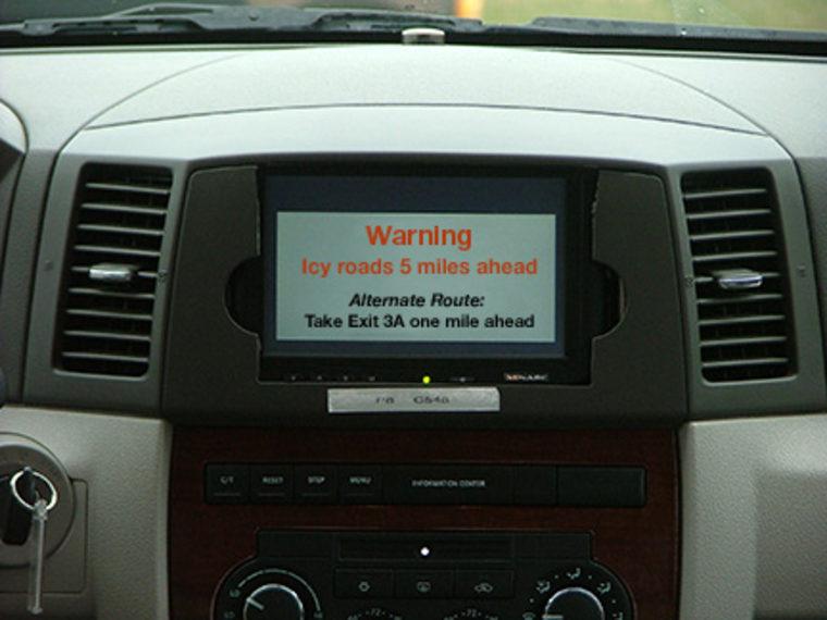 Image: Road warning visual alert in dash