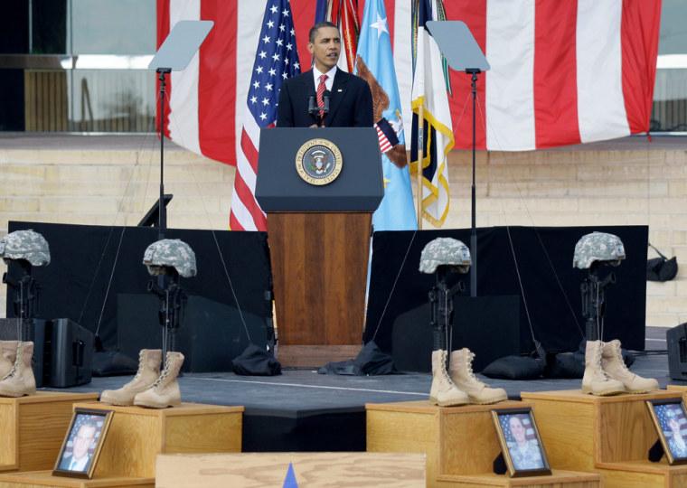Image: Barack Obama at Ft. Hood