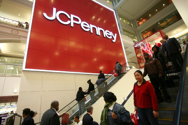 Image: Shoppers at a J.C. Penney store