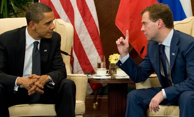 Image: Barack Obama, Dmitry Medvedev
