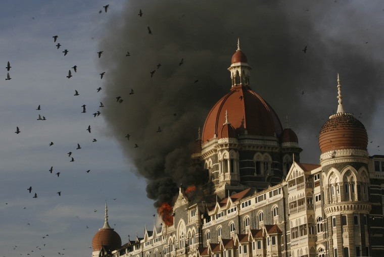 Image: Taj Hotel on fire