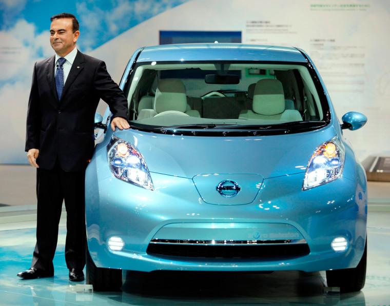 Image: Carlos Ghosn, Nissan Leaf