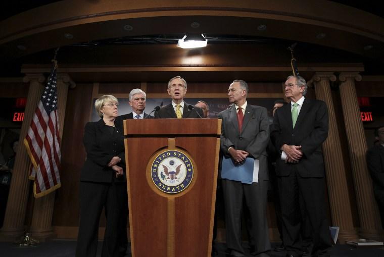 Image: Harry Reid Unveils Senate Health Care Reform Bill