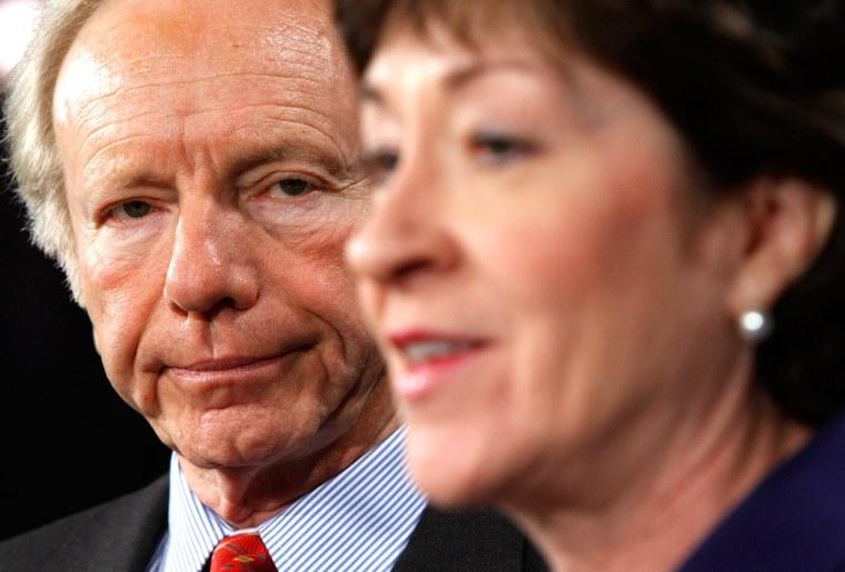 Image: Lieberman And Collins Discuss Bipartisan Health Care Amendments