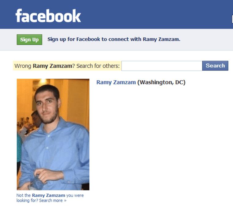 Image: Facebook page of Ramy Zamzam