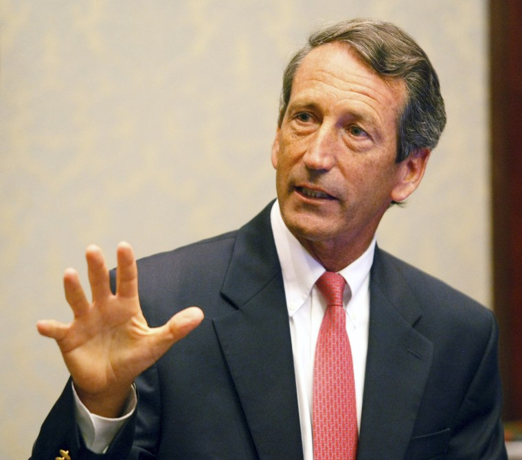 Image: South Carolina Governor Mark Sanford addresses the media at a news conference at the State House in Columbia