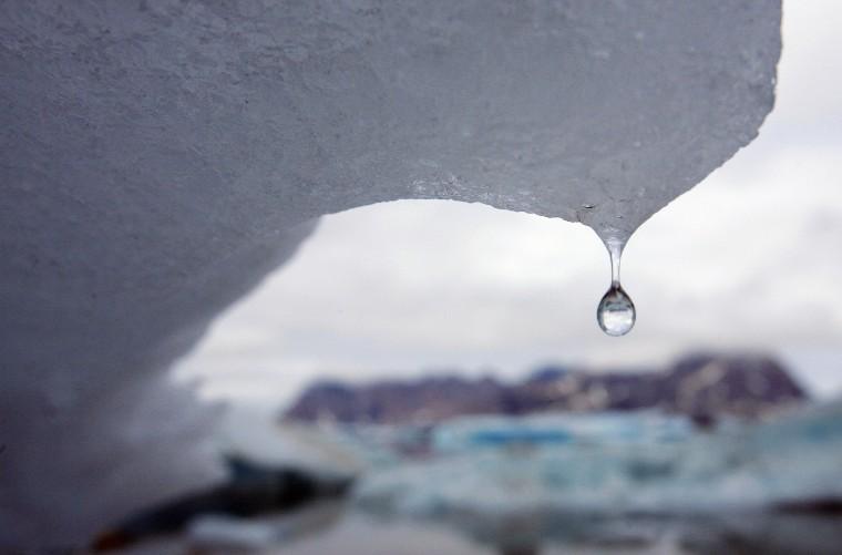 Image: An iceberg melts in Kulusuk Bay, eastern Greenland