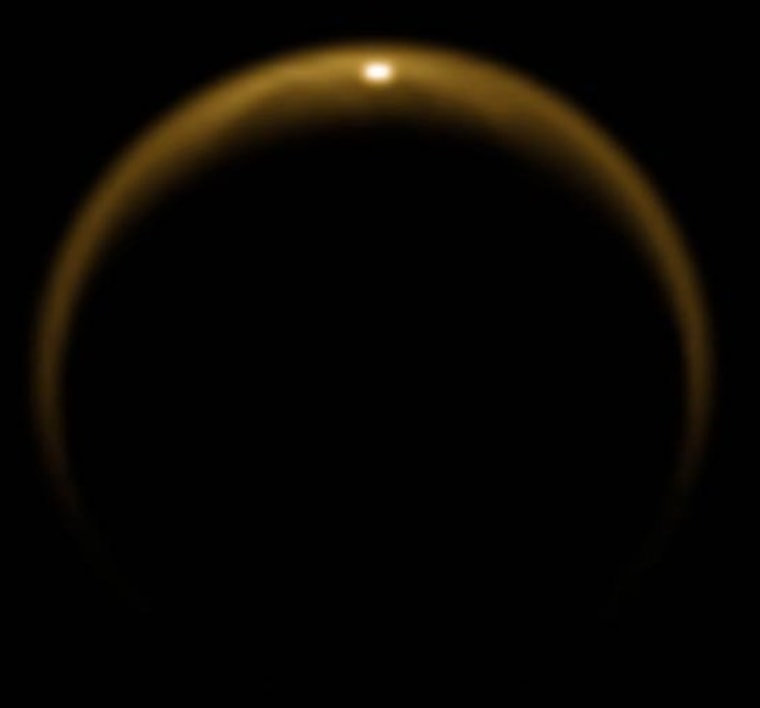 Image: Sunlight on Titan