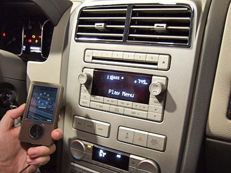 Image: Ford Sync with digital music player