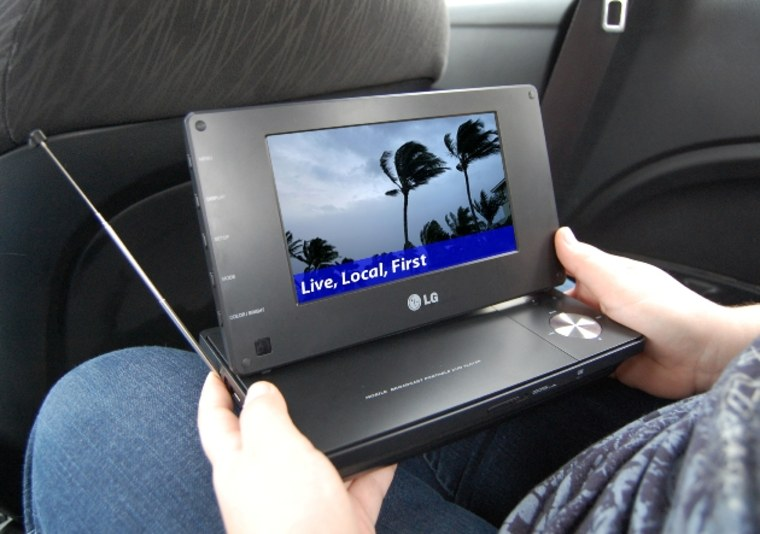Image: LG's mobile digital TV and DVD player