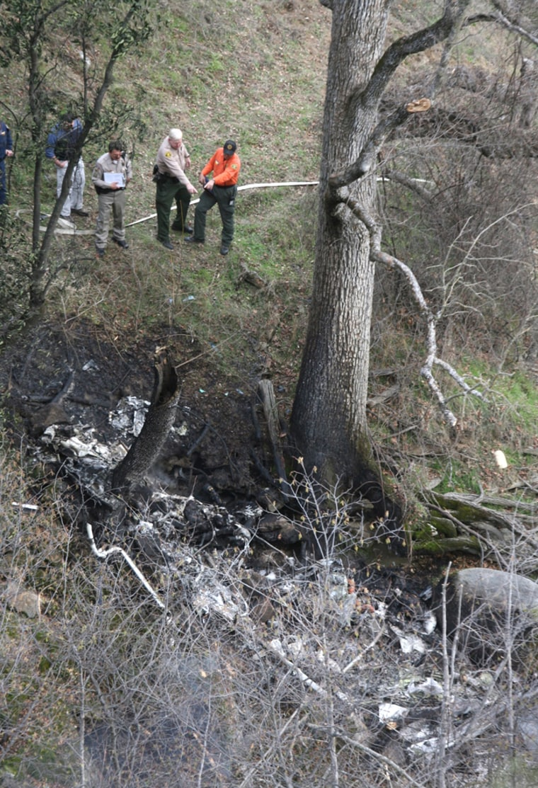 Image: California Fish and Game helicopter crash
