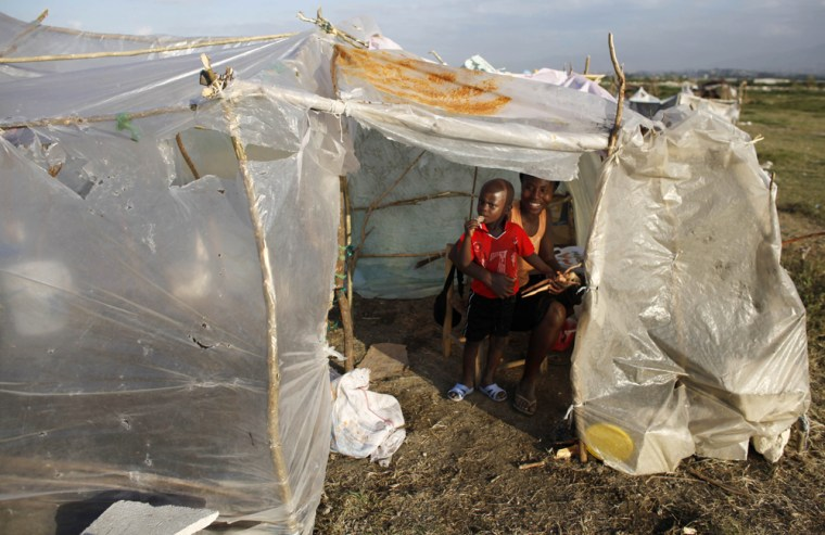 Image: makeshift tent at the Cite Soleil
