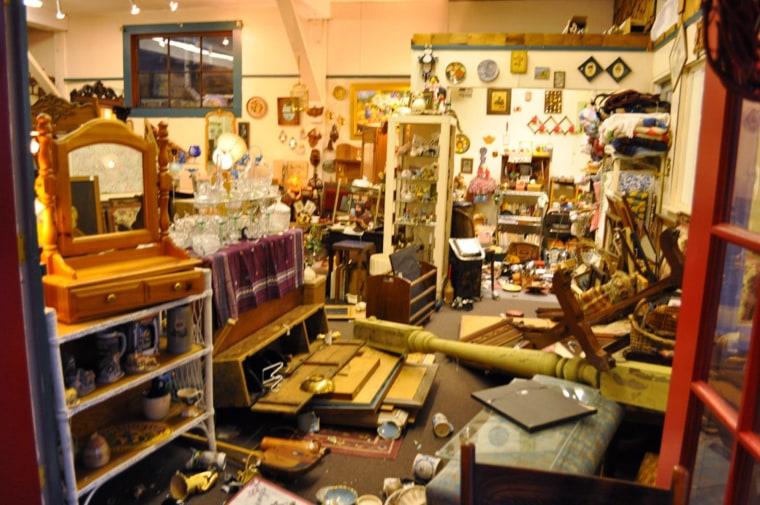Image: Damaged antique store in Ferndale, Calif.