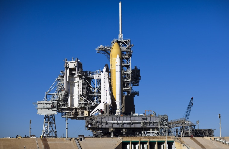 Image: Space Shuttle Endeavour Rolls Out To Launch Pad