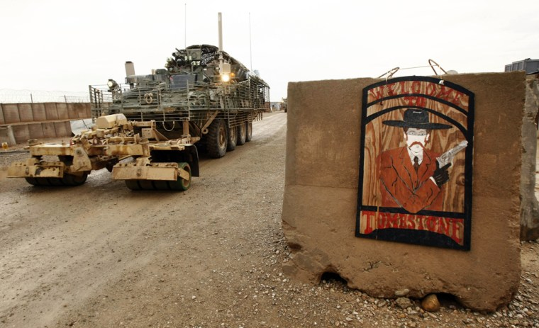 Image: Tombstone base in the Helmand