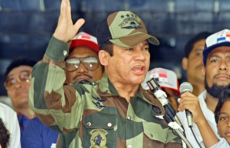 Image: General Manuel Antonio Noriega speaks 20 May 1988